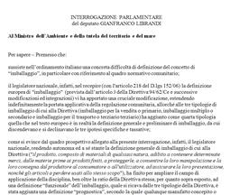 Interrogazione al Ministro dell'Ambiente e della tutela del territorio e del mare – 8 Luglio 2013