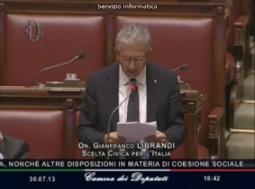 Intervento alla Camera dei Deputati 30 Luglio 2013