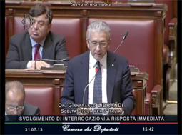 Intervento alla Camera dei Deputati 31 Luglio 2013