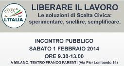 Le soluzioni per il lavoro di Scelta Civica: incontro pubblico 1 febbraio a Milano