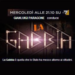 Mercoledì 26 febbraio 2014 ospite a La Gabbia – LA7 ore 21.10