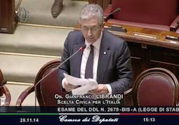 Legge di Stabilità: Intervento durante la discussione della Legge di Stabilità 2015