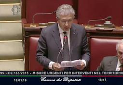 Camera dei Deputati – intervento su D.L. misure urgenti per intervento nel territorio