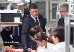 Renzi incontra operai Tci Saronno, questa e' forza innovazione