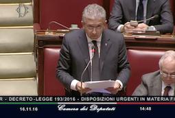 Decreto fiscale: dichiarazione di voto su conversione in legge decreto fiscale 22.11.2016