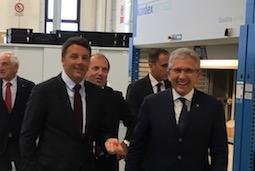 Presidente del Consiglio Matteo Renzi in visita alla mia azienda TCI