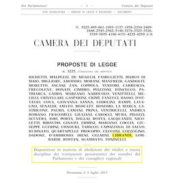 3225 - Vitalizi e pensioni politici - Richetti 255