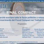 Fiscal Compact – Librandi, incontro Eureca alla Camera dei Deputati